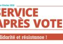 Solidarité et résistance ! Le Service après vote de janvier-février 2021