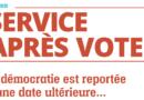 Le Service après vote d'avril 2021